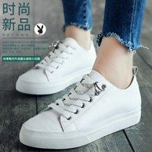 花花公子女鞋2018新款小白鞋女百搭韩版白色板鞋女学生平底休闲鞋L123730123t
