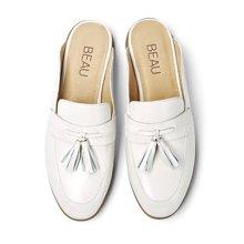 BEAU 新款穆勒鞋女平底包头半拖鞋无后跟懒人鞋流苏单鞋35037