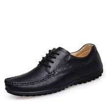 零度尚品软底男鞋商务休闲皮鞋舒适男士驾车鞋豆豆鞋9892