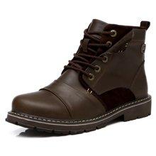西瑞马丁靴硬汉高帮复古工装靴防水加毛不加毛男靴DK0908