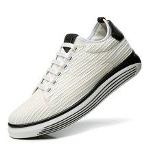 公牛世家小白鞋百搭韩版休闲鞋轻质跑步鞋厚底增高松糕鞋潮流板鞋男 888500