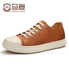 马登男休闲鞋韩版潮流板鞋男英伦百搭复古反绒皮鞋男鞋潮 1612156