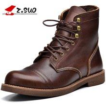 Z.Suo/走索男鞋马丁靴男切尔西靴子军靴潮流短靴户外工装靴 ZS16700