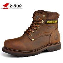 Z.Suo/走索男鞋户外靴子男马丁靴英伦军靴男保暖短靴工装靴 ZSGTY16016
