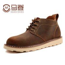 马登马丁靴男靴子英伦风皮靴男士韩版潮流工装靴高帮雪地短靴军靴男鞋 1407028