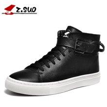 Z.Suo/走索男鞋皮靴男潮流男士休闲鞋韩版潮鞋短靴马丁靴 ZS1609