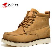 Z.Suo/走索男鞋英伦工装靴户外靴男靴子短靴军靴潮流马丁靴男 ZS1066