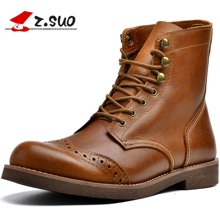 Z.Suo/走索男鞋工装靴男马丁靴男靴子潮流军靴男系带短靴男 ZS16701