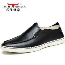 公牛世家休闲鞋男皮鞋韩版时尚豆豆鞋懒人鞋驾车鞋乐福鞋青年鞋 888277