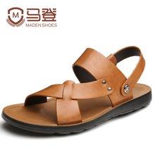 马登夏季凉鞋男士凉鞋皮鞋凉鞋沙滩鞋男韩版潮流个性凉鞋 MA1404018