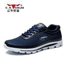 公牛世家男鞋男士休闲鞋运动鞋韩版百搭透气跑步鞋网鞋潮鞋子 8884211