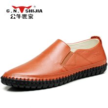 公牛世家男鞋男士休闲鞋韩版潮休闲皮鞋男软面皮青年鞋子 888278