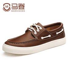 马登潮男鞋子男士休闲鞋男鞋英伦帆船鞋男皮鞋男板鞋 1607114