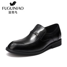 富贵鸟(FUGUINIAO)商务正装鞋时尚头层牛皮压花英伦商务鞋结婚鞋子皮鞋男 T77F035