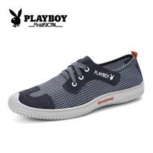 花花公子男鞋2016夏季网鞋男透气运动鞋韩版休闲鞋系带跑步鞋CX39052