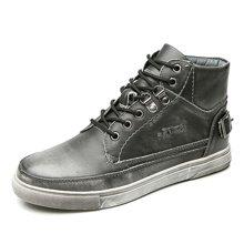 公牛世家马丁靴男短靴皮靴子机车靴英伦风工装靴朋克复古高帮鞋潮鞋圆头 888256