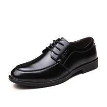 公牛世家男性商务正装皮鞋男系带英伦圆头青年休闲鞋子 888271