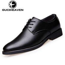 古奇天伦英伦时尚男鞋2018新款系带正装皮鞋男士商务休闲皮鞋 6825