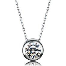 佐卡伊 波点 18K金钻石吊坠项链项坠女结婚简约锁骨链送女友珠宝