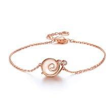 佐卡伊 蜗牛小姐玫瑰18k金钻石手链女时尚手链求婚送女友珠宝首饰