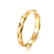 佐卡伊18k金钻石戒指求婚钻戒结婚女戒时尚正品珠宝首饰麦穗系列预定