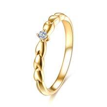 佐卡伊18k金钻戒钻石女戒求婚结婚戒指时尚新款珠宝首饰麦穗系列预定