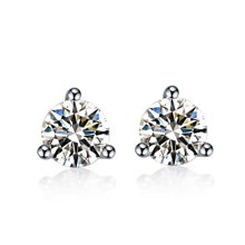 佐卡伊钻石珠宝 白18k金钻石耳钉结婚耳饰女款正品