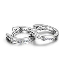 佐卡伊 白18K金钻石耳饰结婚耳钉钻石排钻耳钉耳环女时尚珠宝首饰