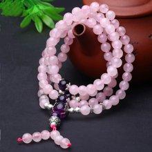 盈满堂 天然粉水晶配紫水晶绕手4圈手链