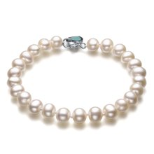 金兴福 淡水珍珠手链6.5-7.5mm近圆心形手链送女友送闺蜜送老婆送自己