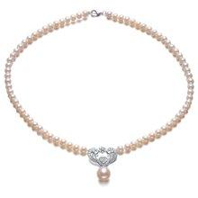 Lux-women-珍珠925银锆石项链-华贵系列LW12030702565(附鉴定证书)