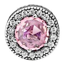 PANDORA 潘多拉 清新粉红色锆石串珠796082PCZ(1)