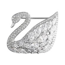 SWAROVSKI 施华洛世奇 Swan Lake 时尚梦幻天鹅胸针5240582