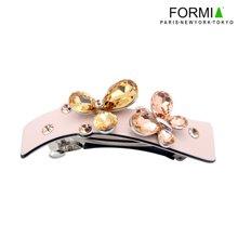 FORMIA水晶板材发饰平夹唯美叶子顶夹头饰HP6910713 裸粉
