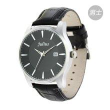 聚利时情人节礼物正品时尚情侣对表男女手表皮带男士手表JA-455M