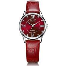 古尊(GOLGEN)手表 时尚系列石英女表红色GN.19010L.PE