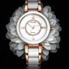古尊(GOLGEN)手表 陶瓷系列石英女表白色GN.17023L.CRS