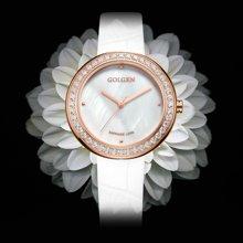 古尊(GOLGEN)手表 优雅系列石英女表白色GN.19012L.RS.W