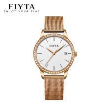 飞亚达编织钢带石英表时尚简约女士手表DL865000.PWPD【套装】