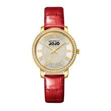 NATURALLY JOJO 新款SHINE系列时尚镶施华洛晶钻皮带女表JO0778