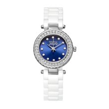 NATURALLY JOJO 新款镶钻陶瓷腕表迷你型JO99002-86F
