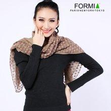 Formia芳美亚新款女士围巾气质纯色百搭长款围巾秋冬围巾披肩围巾