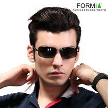 FORMIA芳美亚男士太阳镜潮人偏光镜时尚墨镜司机驾驶镜眼镜开车专用   深灰色