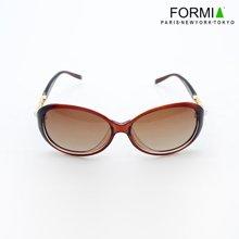 Formia芳美亚全框女士太阳镜2014新款低调奢华女式墨镜太阳镜女防紫外线  咖色