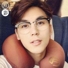 陌影复古大框眼镜框男潮圆脸个性板材半框近视眼镜架女韩版眼睛框