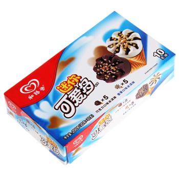和路雪迷你可爱多甜筒香草巧克力口味冰淇淋(200g)