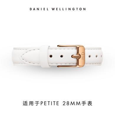 丹尼尔惠灵顿(Daniel Wellington)DW女学生?#30452;?#32431;白针扣皮革表带12mm
