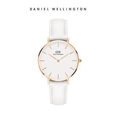 Danielwellington丹尼爾惠靈頓dw手表女 32mm純白皮表帶女表