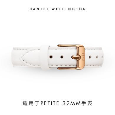 丹尼爾惠靈頓(Daniel Wellington)正品DW女手表14mm白色皮革表帶