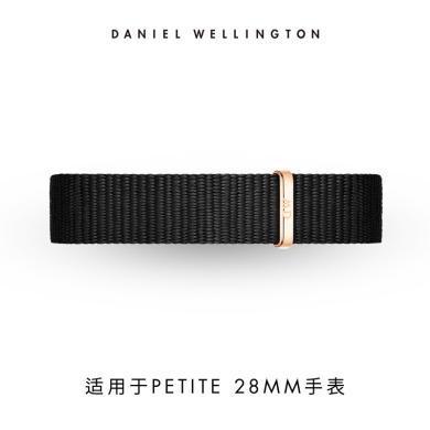 丹尼尔惠灵顿(Daniel Wellington)DW女学生?#30452;?#40657;色针扣尼龙12mm表带
